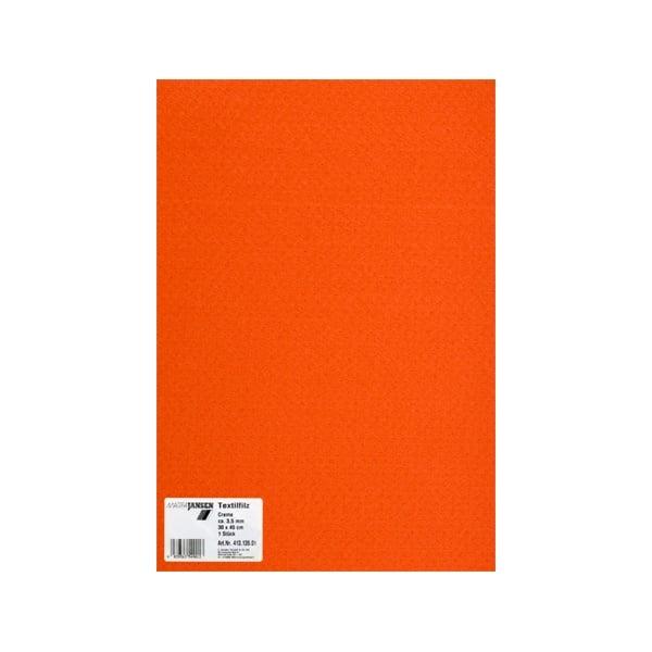 Филц текстилен, 3,5 mm, 30 x 45 cm, 1л в пакет Филц текстилен, 3,5 mm, 30 x 45 cm, 1л в пакет, оранжев