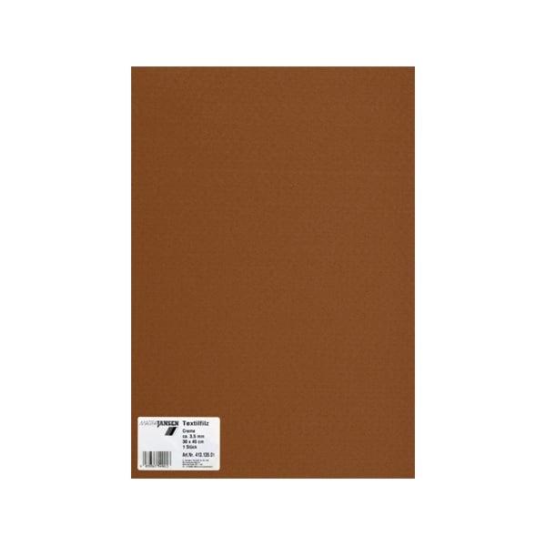 Филц текстилен, 3,5 mm, 30 x 45 cm, 1л в пакет Филц текстилен, 3,5 mm, 30 x 45 cm, 1л в пакет, шоколадово кафяв