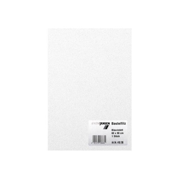Филц занаятчийски 0,8-1 mm, 100% вискоза Филц за занаятчийски 0,8-1 mm, 100% вискоза, бял