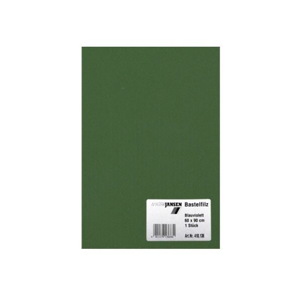 Филц занаятчийски 0,8-1 mm, 100% вискоза Филц за занаятчийски 0,8-1 mm, 100% вискоза, зелено шише