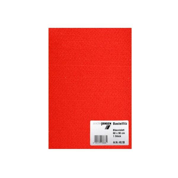 Филц занаятчийски 0,8-1 mm, 100% вискоза Филц занаятчийски 0,8-1 mm, 100% вискоза, червена