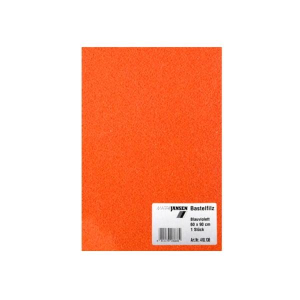 Филц занаятчийски 0,8-1 mm, 100% вискоза Филц занаятчийски 0,8-1 mm, 100% вискоза, оранжев