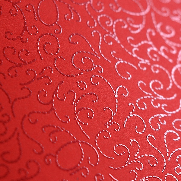 Фото картон с орнаментен лак, 220 g/m2, 47 x 69 cm, 1 лист Фото картон с орнаментен лак, 220 g/m2, 47 x 69 cm, 1л, минг червен
