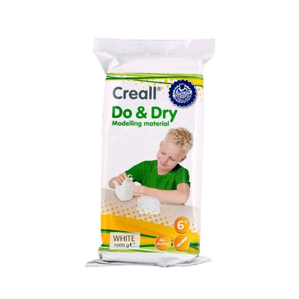 Глина за моделиране CREALL Do+Dry Глина за моделиране CREALL Do+Dry, 1000g, бяла