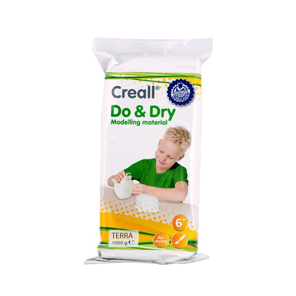 Глина за моделиране CREALL Do+Dry Глина за моделиране CREALL Do+Dry, 1000g, теракота