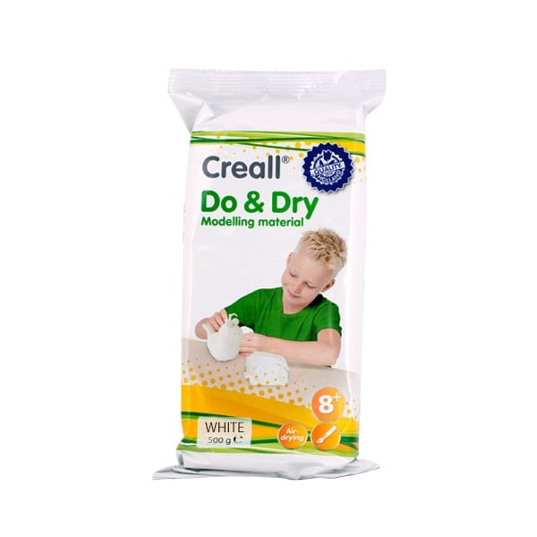 Глина за моделиране CREALL Do+Dry Глина за моделиране CREALL Do+Dry, 500g, бяла