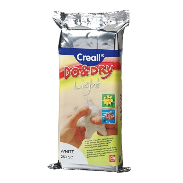 Глина за моделиране CREALL Do+Dry Глина за моделиране CREALL Do+Dry Light, 250g, бяла