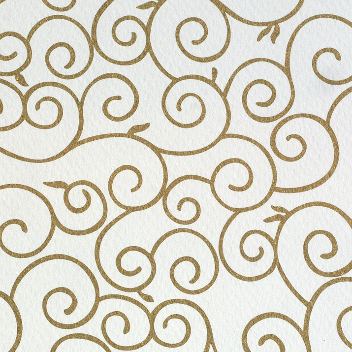 Фото картон, 220 g/m2, 50 x 69 cm, 1л, бял със златни арабески