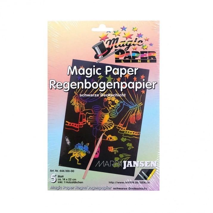 Magic-Paper Regenbogenpapier, 14 x 22 cm, 5л в пакет