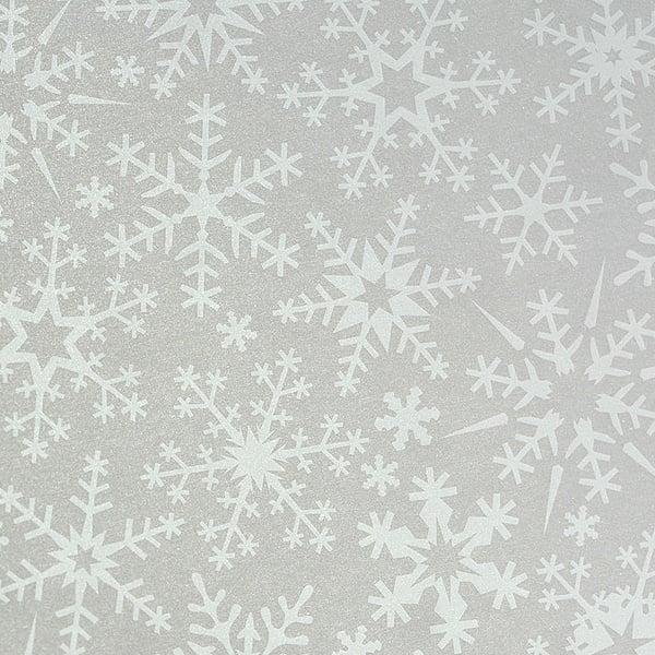 Хартия прозрачна твърда, 115 g/m2, 50 x 60 cm, 1 лист Хартия прозрачна твърда, 115 g/m2, 50 x 60 cm, 1л, Снежинки бели