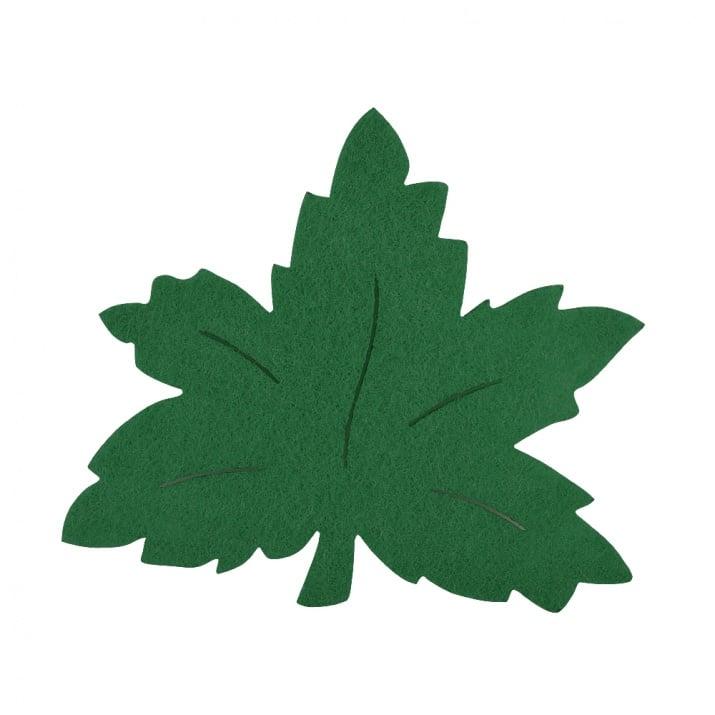 Деко фигурка лозов лист, Filz, 120 mm, тъмно зелен
