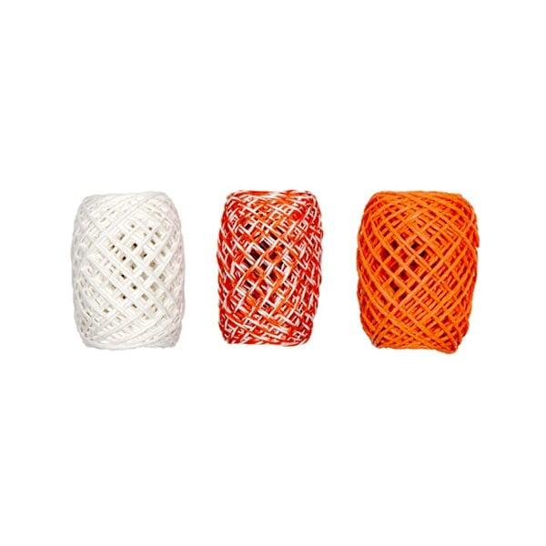 Хартиена връв, 2мм х 15м, 3 броя, оранжев микс