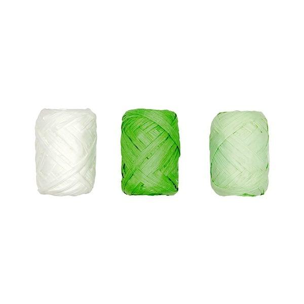 Хартиено лико, 5мм х 10 м, 3 броя, зелен  микс