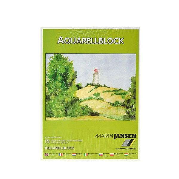 Хартия акварелна TORCHON, 250 g/m2 Хартия акварелна TORCHON, 250 g/m2, 18 x 24 cm, 15л в блок, бяла