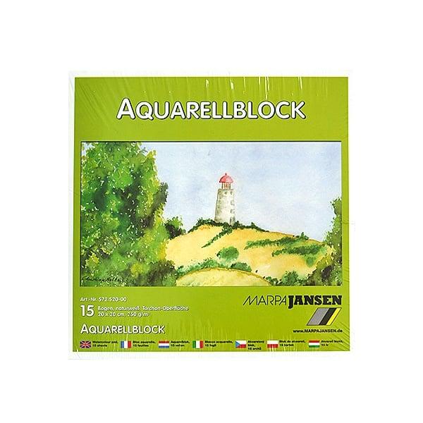 Хартия акварелна TORCHON, 250 g/m2 Хартия акварелна TORCHON, 250 g/m2, 20 x 20 cm, 15л в блок, бяла