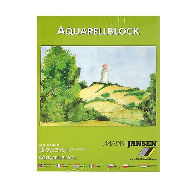 Хартия акварелна TORCHON, 250 g/m2 Хартия акварелна TORCHON, 250 g/m2, 30 x 40 cm, 15л в блок, бяла