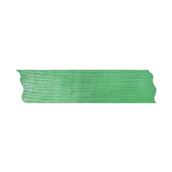 Лента шифон рязана, 25 mm, 10m Лента шифон рязана, 25 mm, 10m, зелена