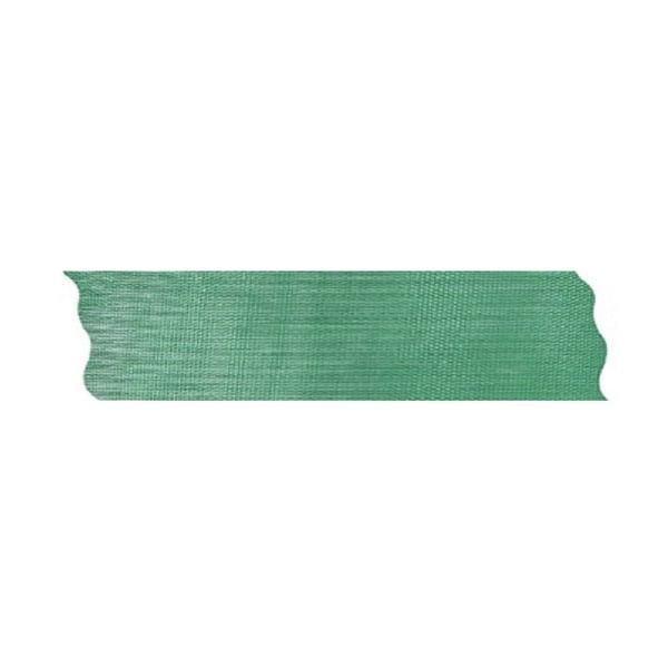 Лента шифон рязана, 25 mm, 10m Лента шифон рязана, 25 mm, 10m, тъмно зелена