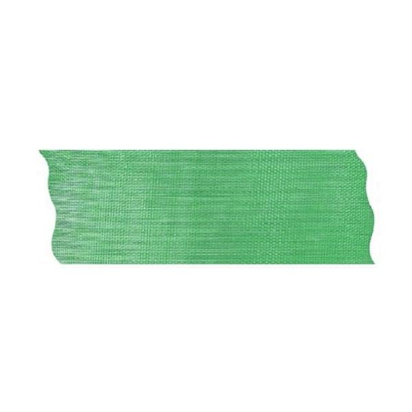 Лента шифон рязана, 40 mm, 10m Лента шифон рязана, 40 mm, 10m, зелена