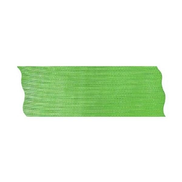 Лента шифон рязана, 40 mm, 10m Лента шифон рязана, 40 mm, 10m, светло зелена