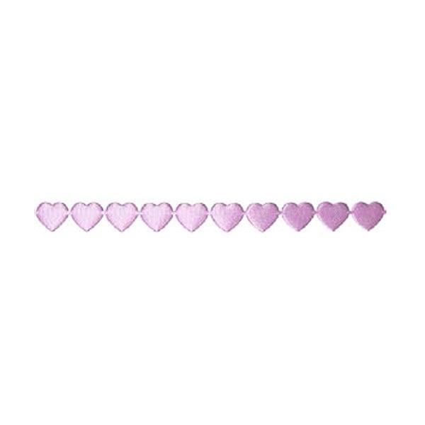 Лента с 3D мотиви, 10 mm, 2m, сърчица Лента с 3D мотиви, 10 mm, 2m, сърчица, светло лилава