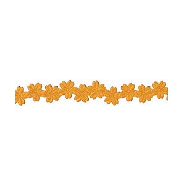 Лента с 3D мотиви, 12 mm, 2m Лента с 3D мотиви, 12 mm, 2m, цветчета, кафяна