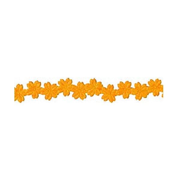 Лента с 3D мотиви, 12 mm, 2m Лента с 3D мотиви, 12 mm, 2m, цветчета, оранжева