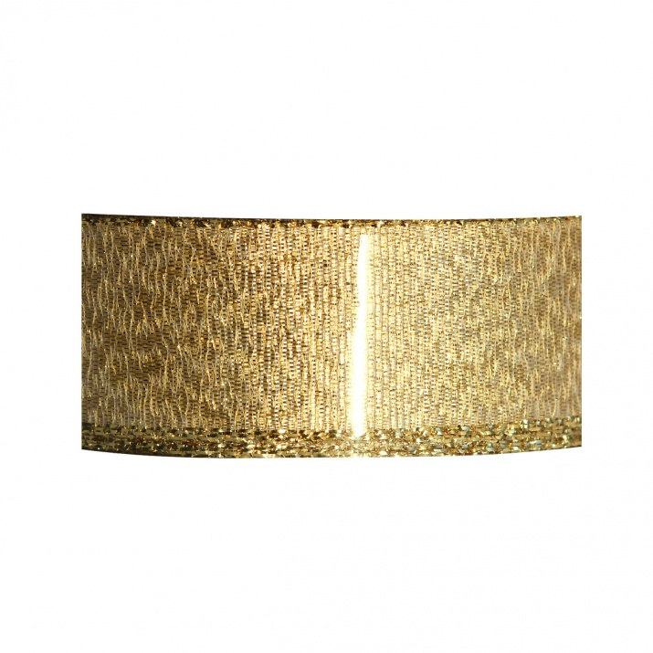 Лента UNI DRAHT, 25 mm, 10m Лурекс лента с кант, 25 mm, 3 m, златиста