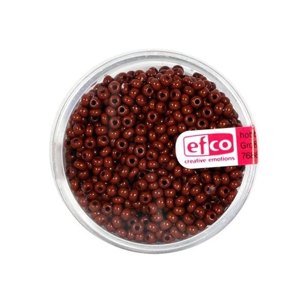 Индиански перли, непрозрачни, ф 2,6 mm, ~1100 бр. Индиански перли, непрозрачни, ф 2,6 mm, ~1100 бр., кафяви
