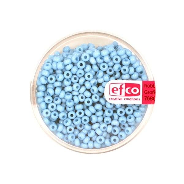 Индиански перли, непрозрачни, ф 2,6 mm, ~1100 бр. Индиански перли, непрозрачни, ф 2,6 mm, ~1100 бр., пастелно сини
