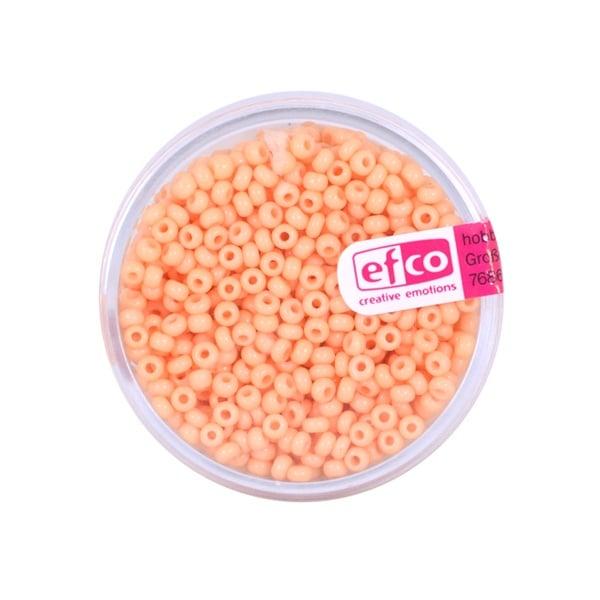 Индиански перли, непрозрачни, ф 2,6 mm, ~1100 бр. Индиански перли, непрозрачни, ф 2,6 mm, ~1100 бр., пастелнооранжеви