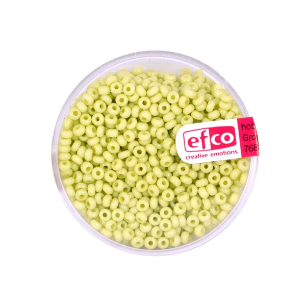 Индиански перли, непрозрачни, ф 2,6 mm, ~1100 бр. Индиански перли, непрозрачни, ф 2,6 mm, ~1100 бр., пастелносветлозел.
