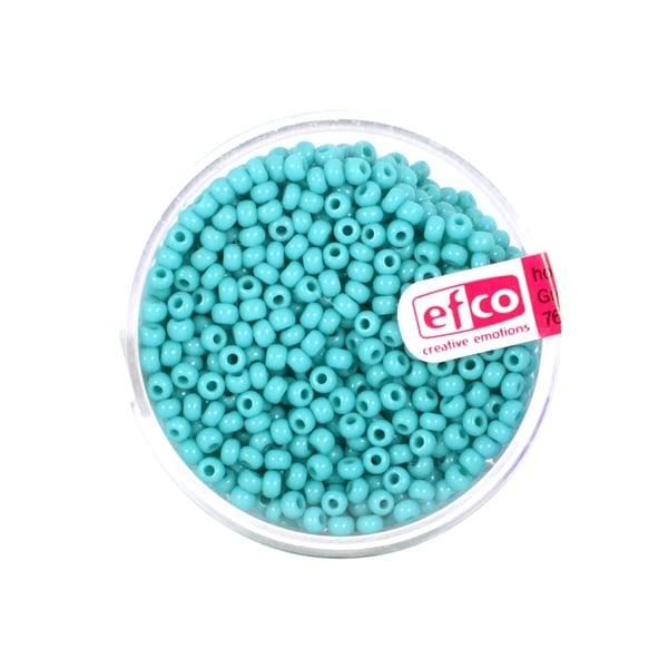 Индиански перли, непрозрачни, ф 2,6 mm, ~1100 бр. Индиански перли, непрозрачни, ф 2,6 mm, ~1100 бр., синьо-зелени