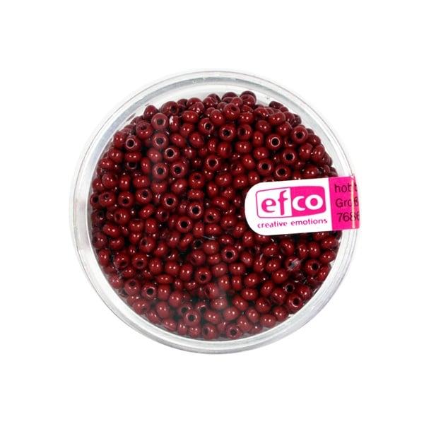 Индиански перли, непрозрачни, ф 2,6 mm, ~1100 бр. Индиански перли, непрозрачни, ф 2,6 mm, ~1100 бр., тъмночервени