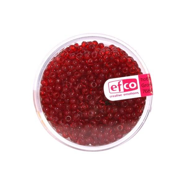 Индиански перли, непрозрачни, ф 2,6 mm, ~1100 бр. Индиански перли, прозрачни, ф 2,6 mm, ~1100 бр., червени