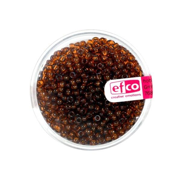 Индиански перли, непрозрачни, ф 2,6 mm, ~1100 бр. Индиански перли, прозрачни, ф 2,6 mm, ~1100 бр., кафяви