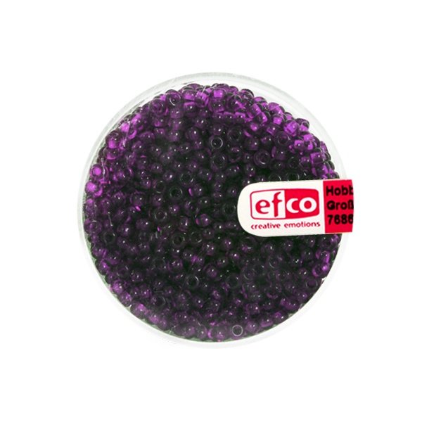 Индиански перли, непрозрачни, ф 2,6 mm, ~1100 бр. Индиански перли, прозрачни, ф 2,6 mm, ~1100 бр., лилави