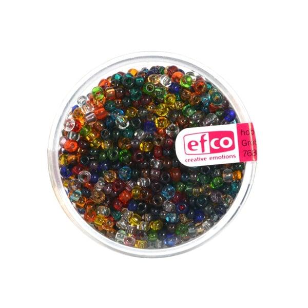 Индиански перли, непрозрачни, ф 2,6 mm, ~1100 бр. Индиански перли, прозрачни, ф 2,6 mm, ~1100 бр., микс