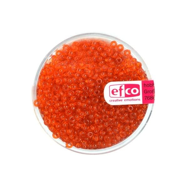 Индиански перли, непрозрачни, ф 2,6 mm, ~1100 бр. Индиански перли, прозрачни, ф 2,6 mm, ~1100 бр., оранжеви