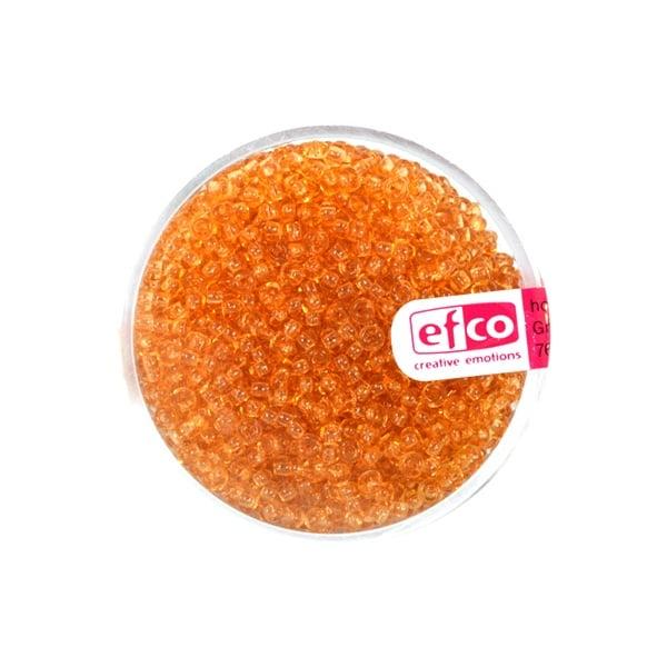 Индиански перли, непрозрачни, ф 2,6 mm, ~1100 бр. Индиански перли, прозрачни, ф 2,6 mm, ~1100 бр., тъмножълти