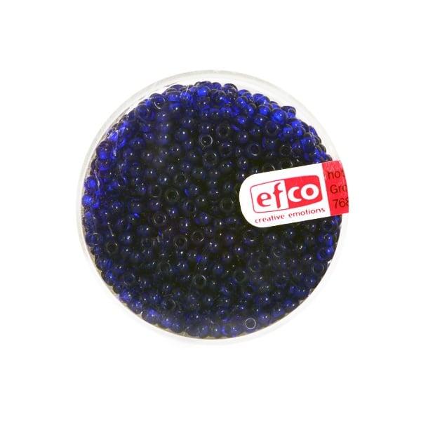 Индиански перли, непрозрачни, ф 2,6 mm, ~1100 бр. Индиански перли, прозрачни, ф 2,6 mm, ~1100 бр., тъмнолазурносини