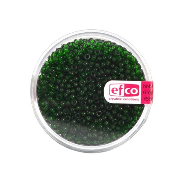 Индиански перли, непрозрачни, ф 2,6 mm, ~1100 бр. Индиански перли, прозрачни, ф 2,6 mm, ~1100 бр., тревистозелени