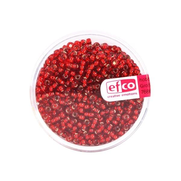 Индиански перли, сребриста нишка, ф 2,6 mm, ~1100 бр. Индиански перли, сребриста нишка, ф 2,6 mm, ~1100 бр., червени