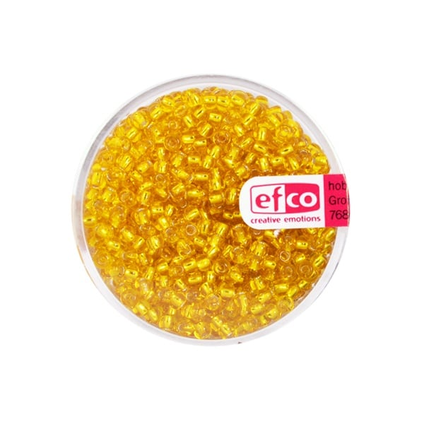 Индиански перли, сребриста нишка, ф 2,6 mm, ~1100 бр. Индиански перли, сребриста нишка, ф 2,6 mm, ~1100 бр., жълти
