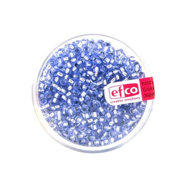 Индиански перли, сребриста нишка, ф 2,6 mm, ~1100 бр. Индиански перли, сребриста нишка, ф 2,6 mm, ~1100 бр., лавандула