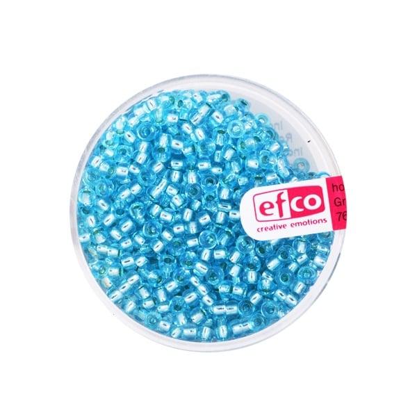 Индиански перли, сребриста нишка, ф 2,6 mm, ~1100 бр. Индиански перли, сребриста нишка, ф 2,6 mm, ~1100 бр., лазурни