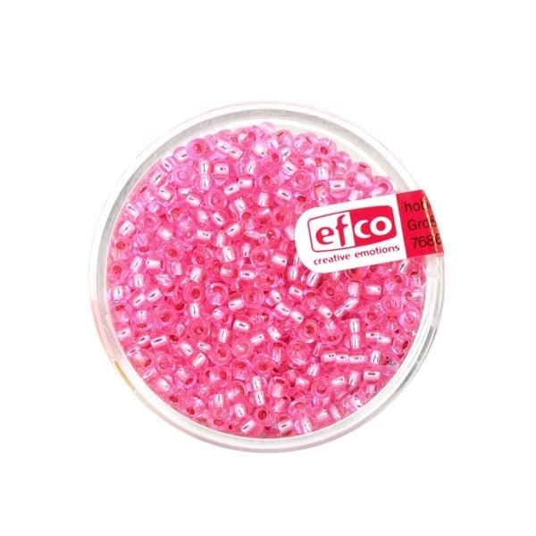 Индиански перли, сребриста нишка, ф 2,6 mm, ~1100 бр. Индиански перли, сребриста нишка, ф 2,6 mm, ~1100 бр., розови