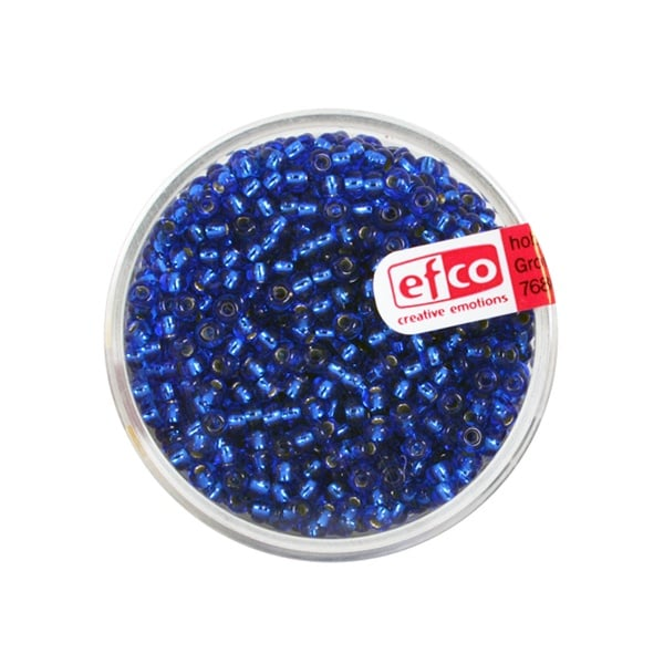 Индиански перли, сребриста нишка, ф 2,6 mm, ~1100 бр. Индиански перли, сребриста нишка, ф 2,6 mm, ~1100 бр., сини