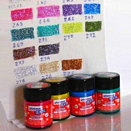 Текстилна боя Glitter JAVANA, 50 ml