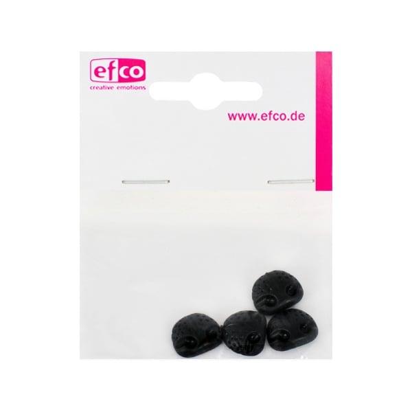 Животински нослета за лепене, ф 14 mm, 4 броя, черни